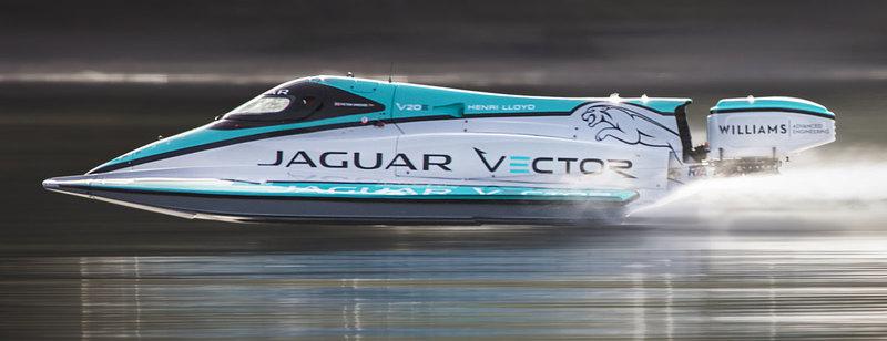 Электро-катер Jaguar Vector V20E побил рекорд скорости на воде