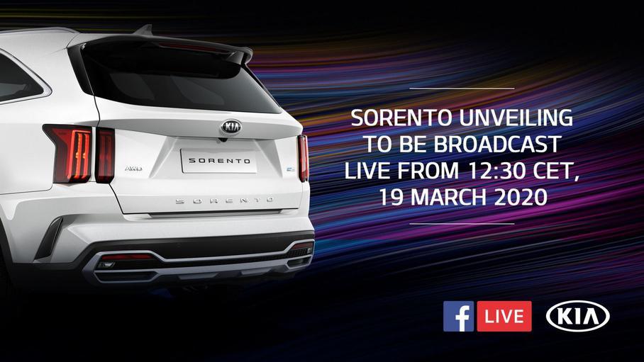 Премьера нового Kia Sorento пройдет онлайн в Facebook