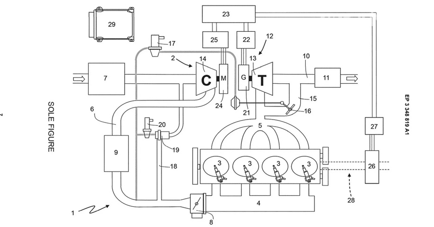 Компания Ferrari запатентовала новый двигатель