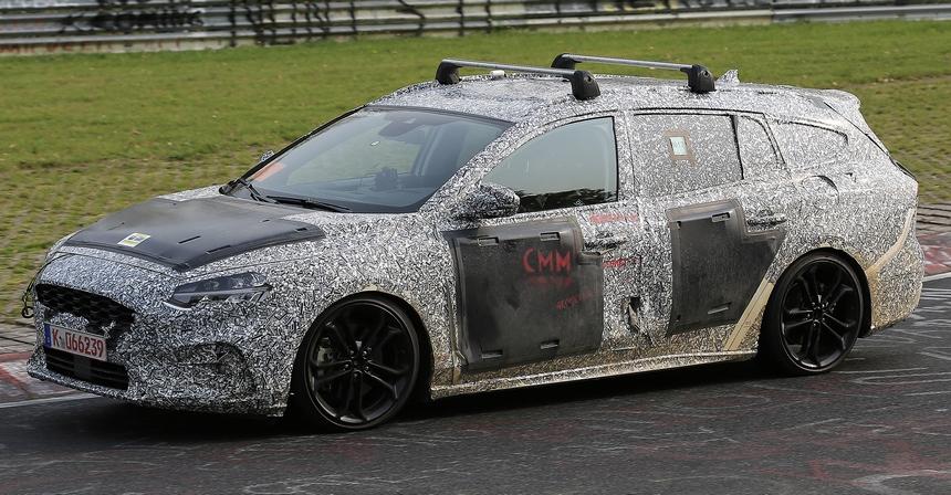 Новый универсал Ford Focus заснят на тестах на Нюрбургринге