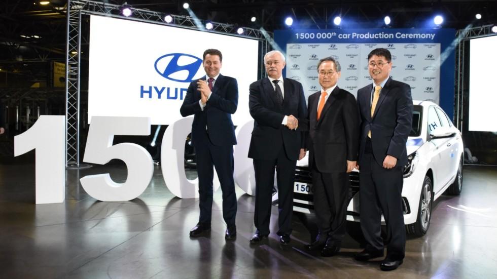1,5-миллионный автомобиль выпущен на заводе Hyundai в Петербурге