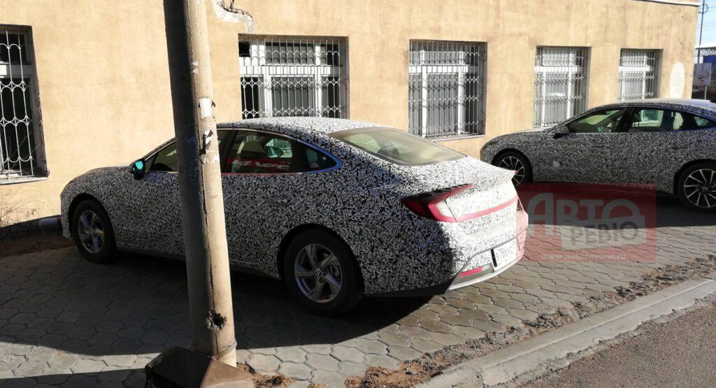 Новую Hyundai Sonata сфотографировали во время тестов в России