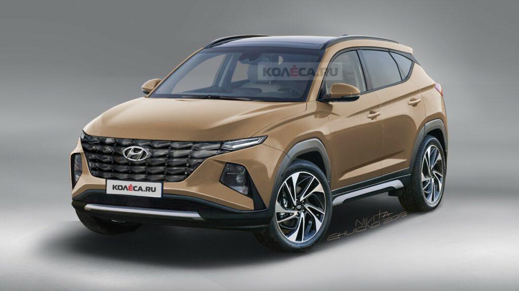 Появились первые рендерные изображения нового Hyundai Tucson
