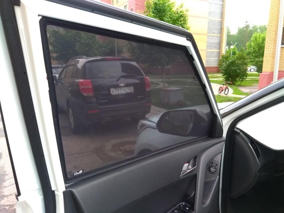 Каркасные шторки EscO на Hyundai Creta