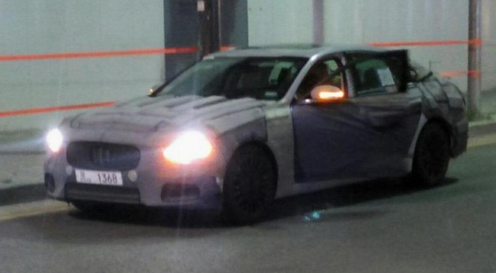 Большой седан Kia Quoris нового поколения замечен на тестах