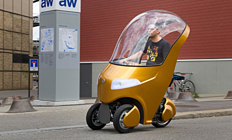 Студенты из Швейцарии создали гибрид скутера, велосипеда и электрокара