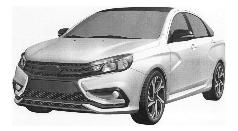 Спортивная версия седана LADA Vesta Sport получит темный интерьер