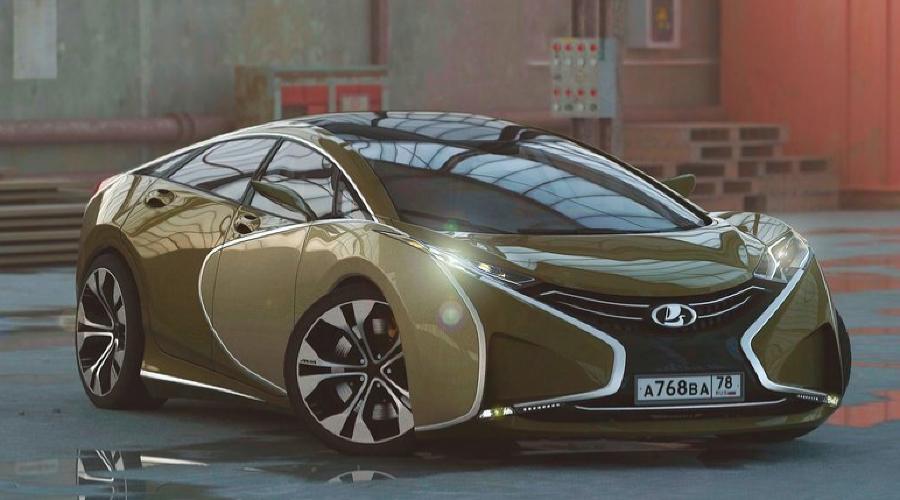 Российский дизайнер на рендерах представил суперкар Lada Questa