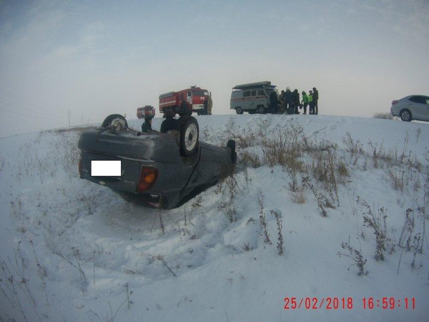 Автомобиль перевернулся в кювет на границе с Башкирией, пострадал ребенок