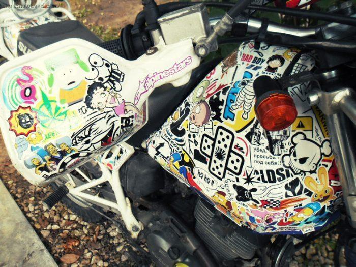 Как качественно оклеить мотоцикл своими руками