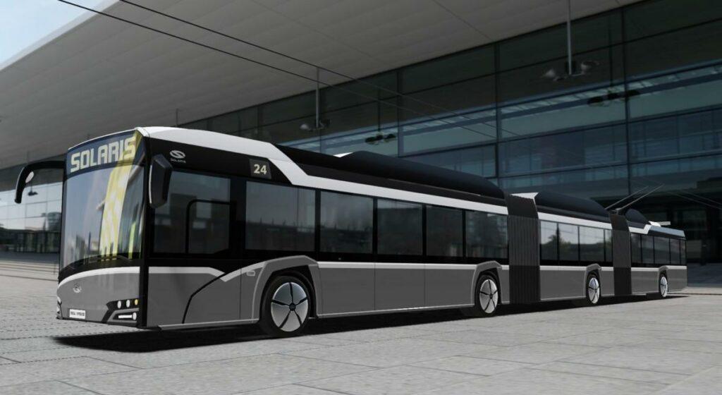 В Польше разработали сверхдлинный 24-метровый троллейбус