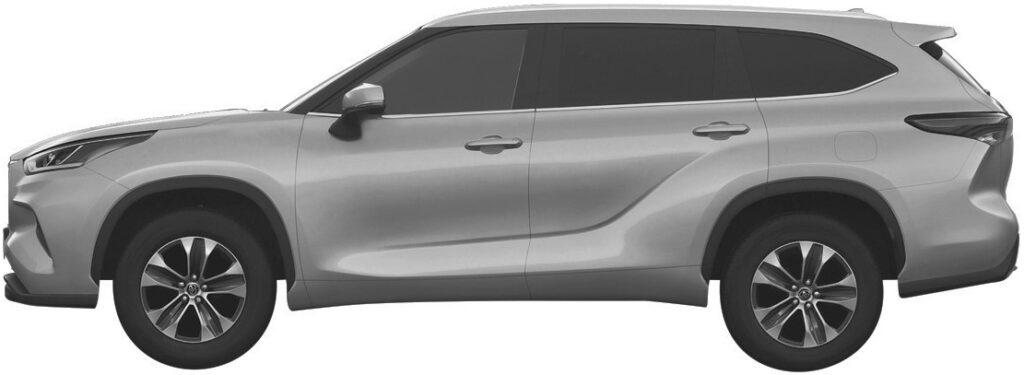 Toyota запатентовала в РФ дизайн нового Toyota Highlander
