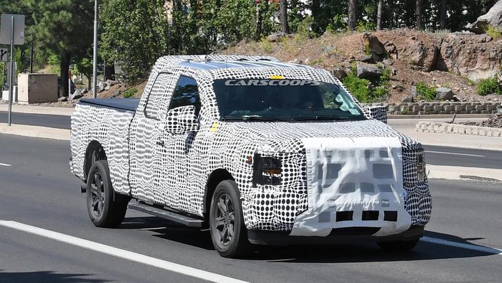 Новый пикап Ford F-150 снова сфотографировали на тестах
