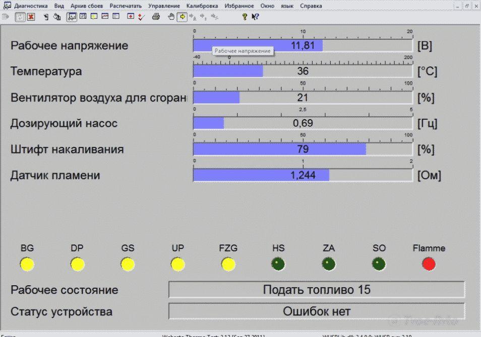 Диагностика вебасто своими руками адаптером
