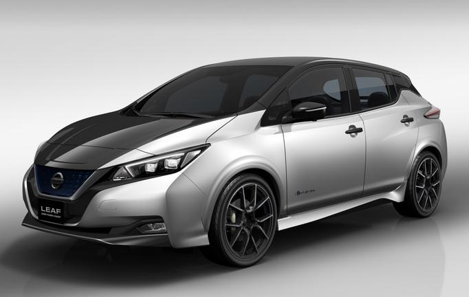 Появилось первое фото спортивной версии электрокара Nissan Leaf GT