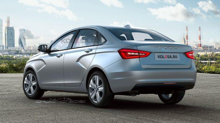 Появились новые изображения рестайлинговой модели LADA Vesta FL