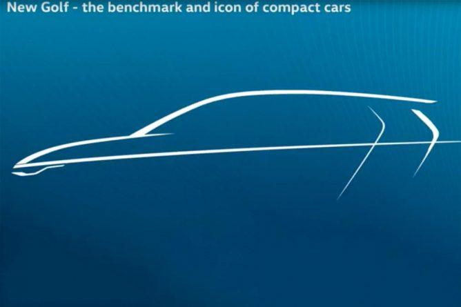 Volkswagen показал первое изображение нового Volkswagen Golf