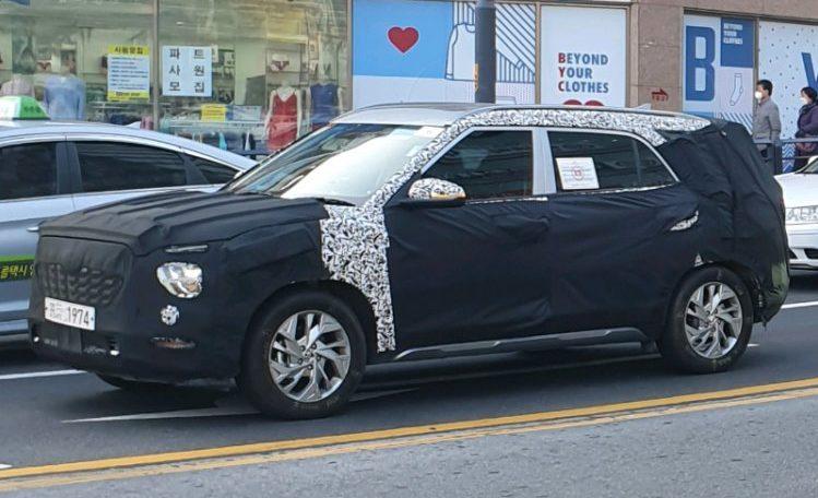 7-местную Hyundai Creta нового поколения снова заметили на тестах