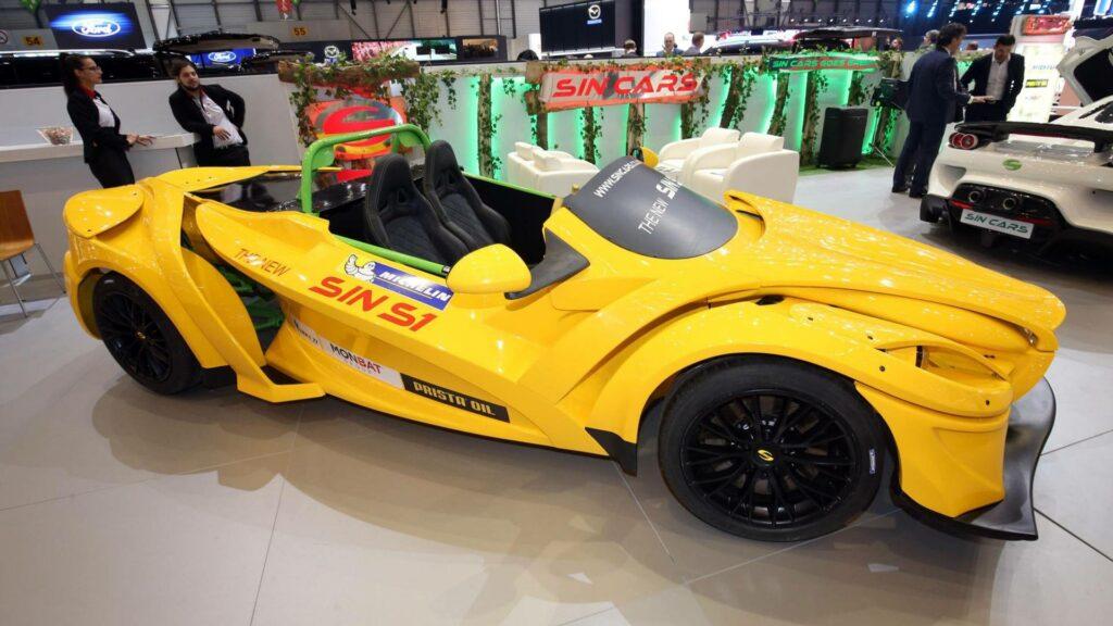 Модульный спорткар Sin стал самой ужасной машиной Женевы