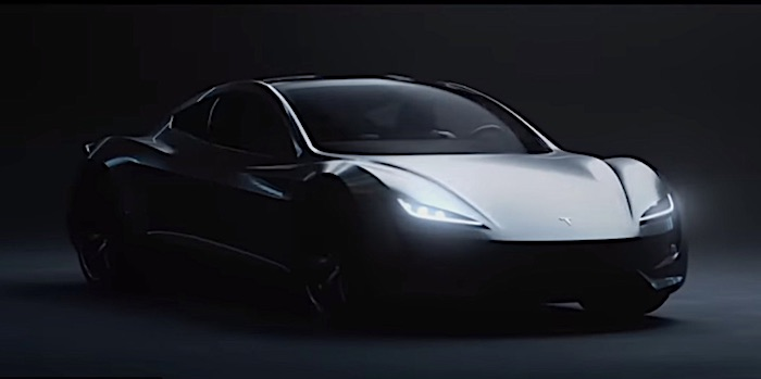 В Сети распространили рендерное видео с новым Tesla Roadster