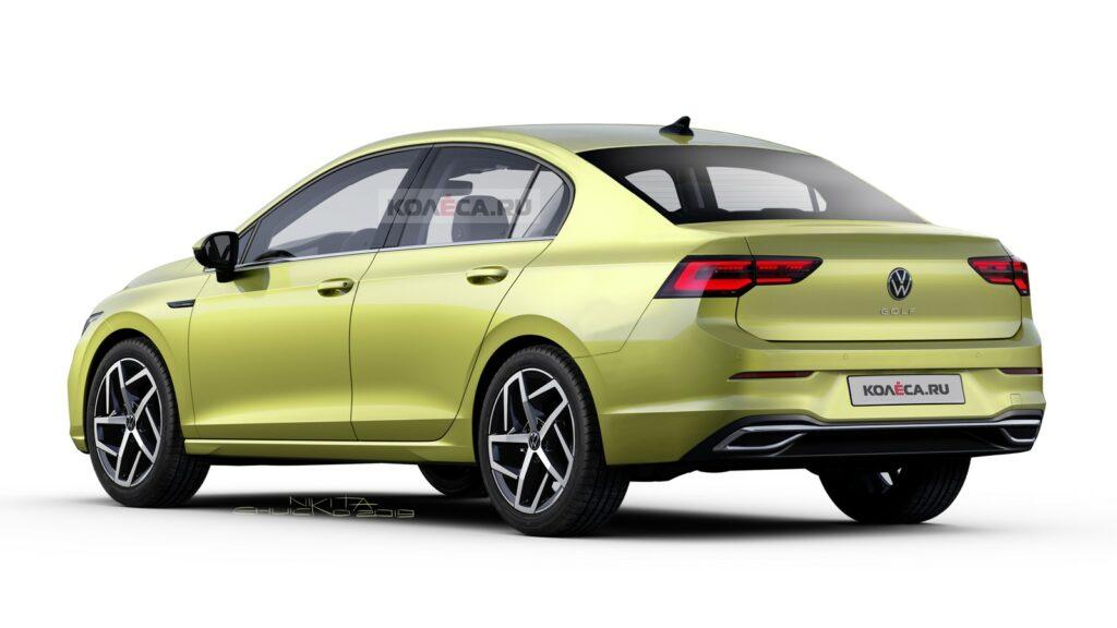 В Сети представили, как может выглядеть седан Volkswagen Golf