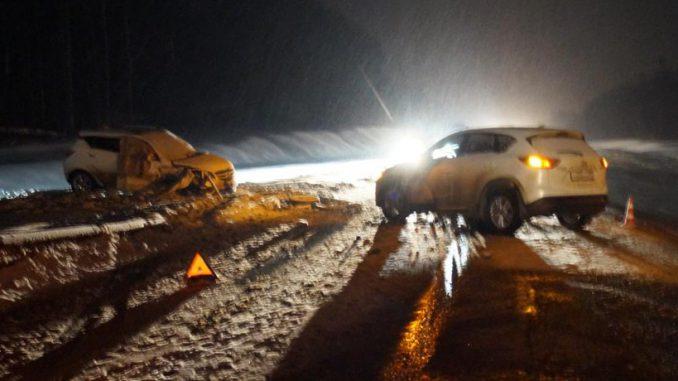Автоледи серьезно пострадала в ДТП двух иномарок под Орлом